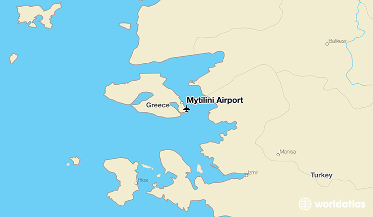 Mytilini Airport location on a map