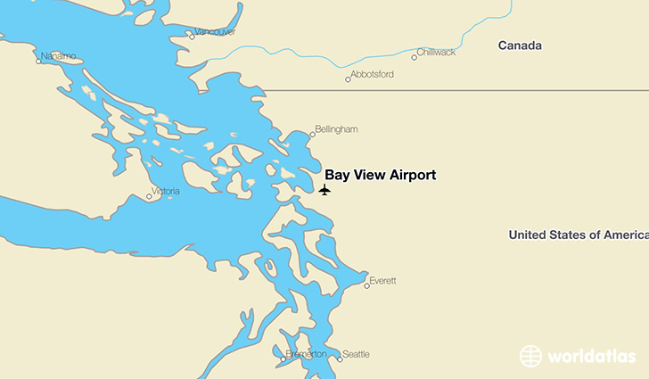 Bay View Airport location on a map