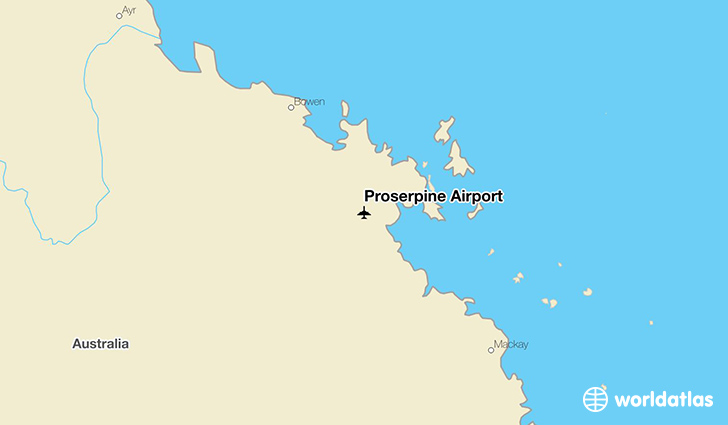 Proserpine Airport location on a map