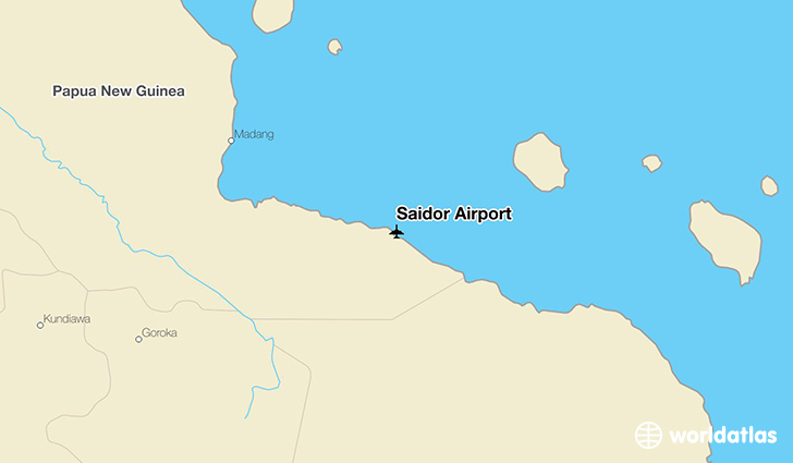 Saidor Airport location on a map