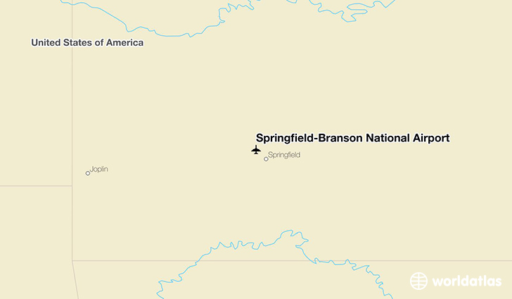 Springfield-Branson National Airport location on a map
