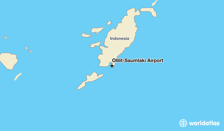 Olilit-Saumlaki Airport location on a map