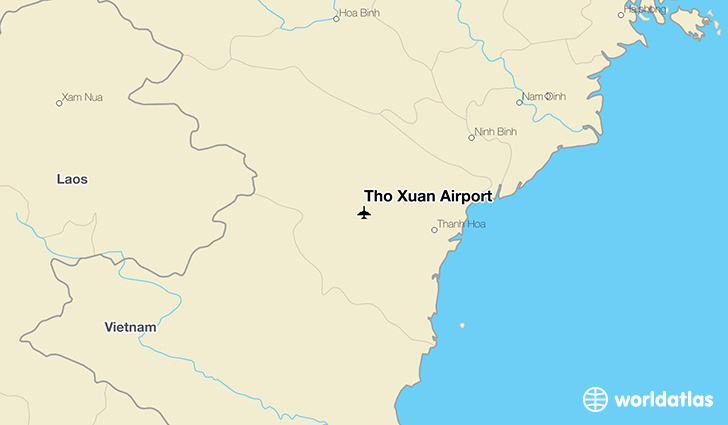 Tho Xuan Airport location on a map