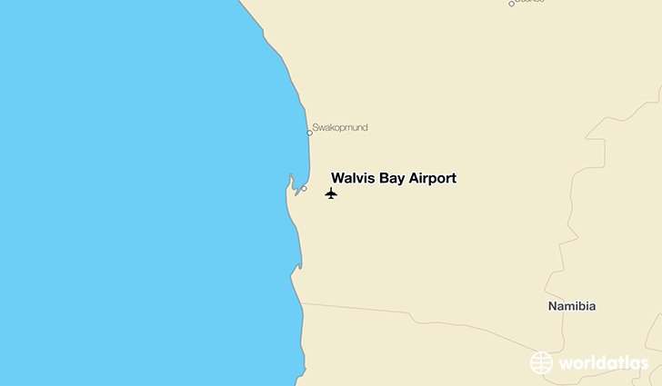 Walvis Bay Airport location on a map