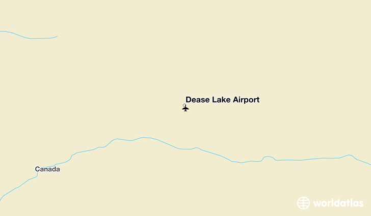 Dease Lake Airport location on a map