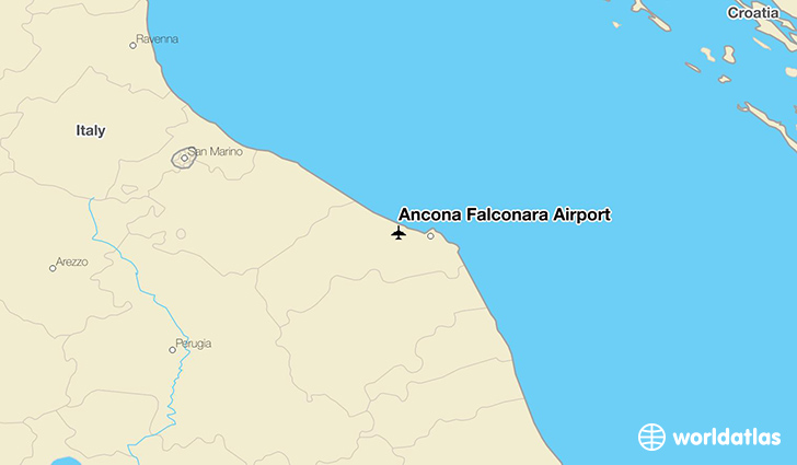 Ancona Falconara Airport location on a map