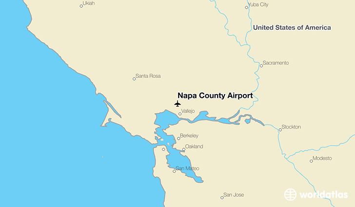 Napa County Airport location on a map