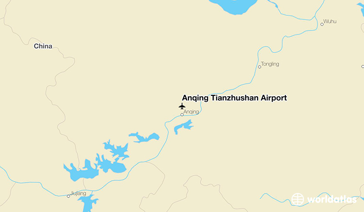 Anqing Tianzhushan Airport location on a map