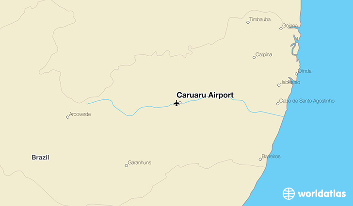 Caruaru Airport location on a map