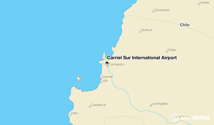 Carriel Sur International Airport location on a map