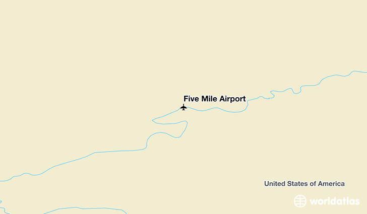 Five Mile Airport location on a map