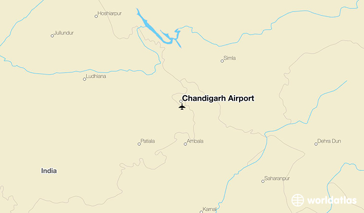 Chandigarh Airport Location Map Chandigarh Airport (IXC)   WorldAtlas