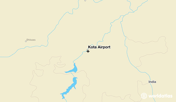 Kota Airport location on a map