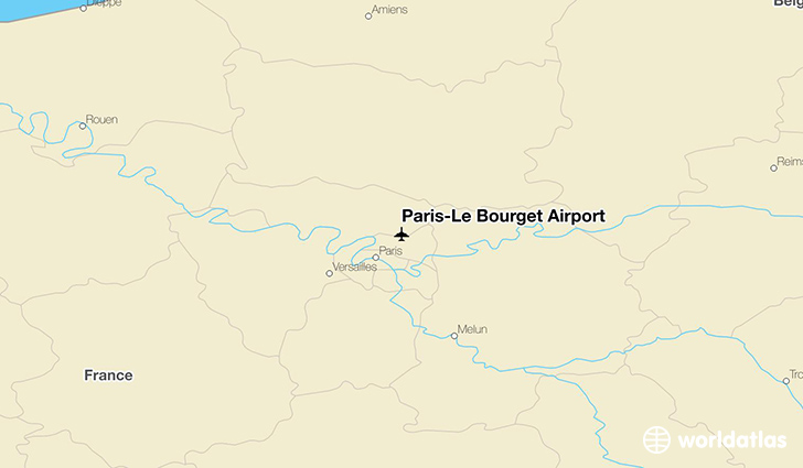 Paris–Le Bourget Airport location on a map