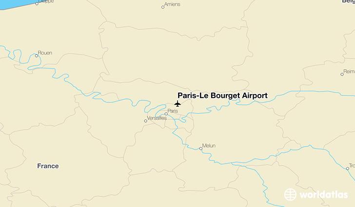 Paris le bourget airport lbg worldatlas for Bourget paris