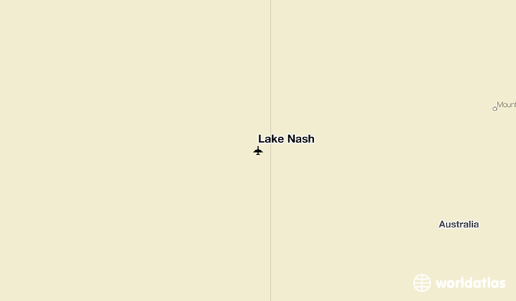 Lake Nash location on a map