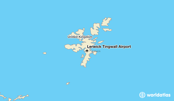 Lerwick Tingwall Airport location on a map