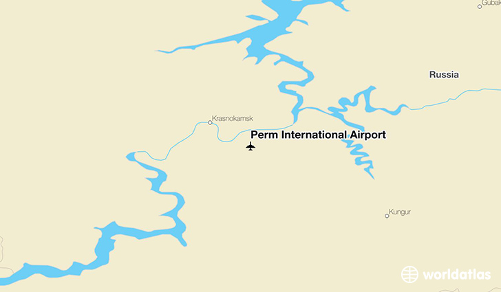 Perm International Airport location on a map