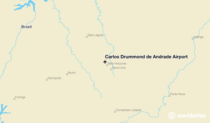 Carlos Drummond de Andrade Airport location on a map