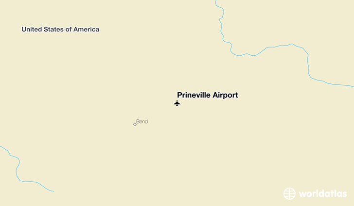Prineville Airport location on a map