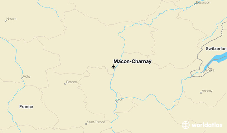 Mâcon-Charnay location on a map