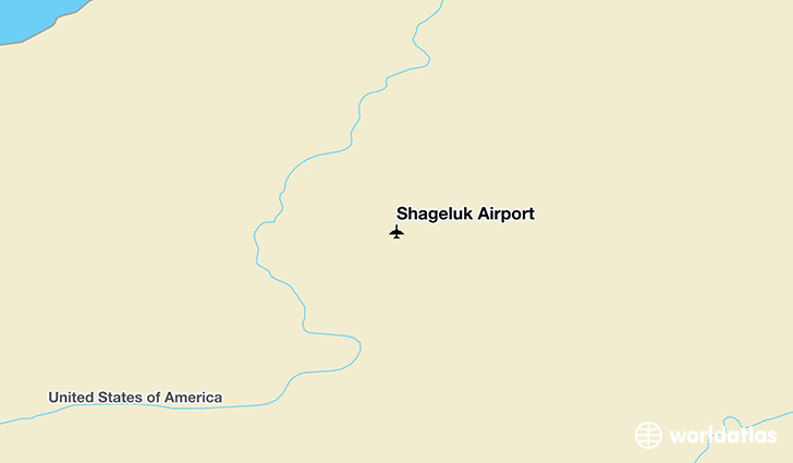 Shageluk Airport location on a map