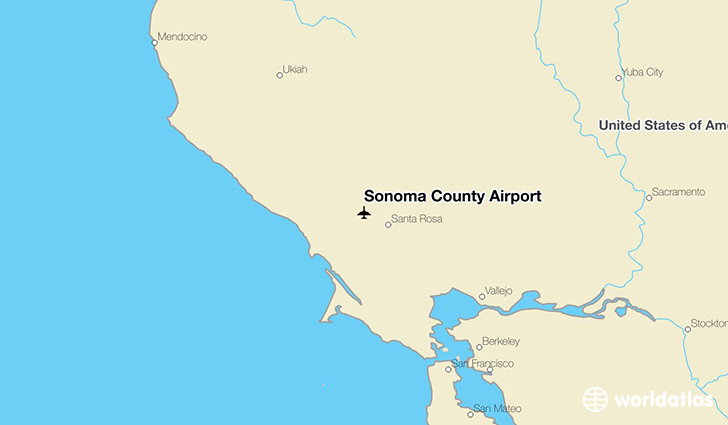 Sonoma County Airport location on a map