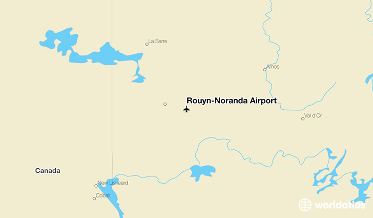 Rouyn-Noranda Airport location on a map
