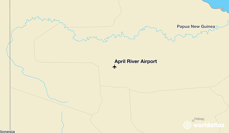 April River Airport location on a map