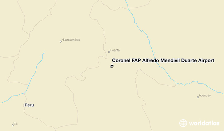 Coronel FAP Alfredo Mendívil Duarte Airport location on a map