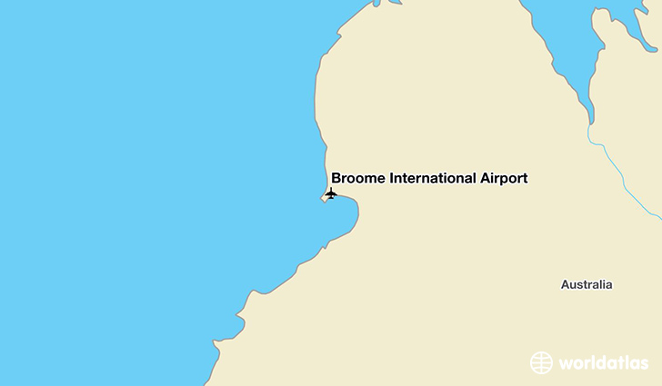 Broome International Airport location on a map