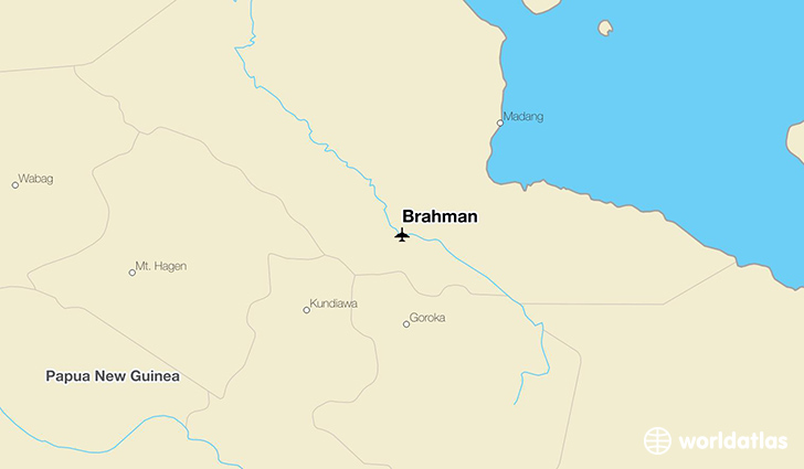 Brahman location on a map