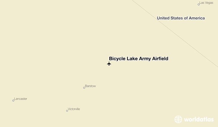 Bicycle Lake Army Airfield location on a map