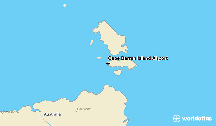 Cape Barren Island Airport location on a map