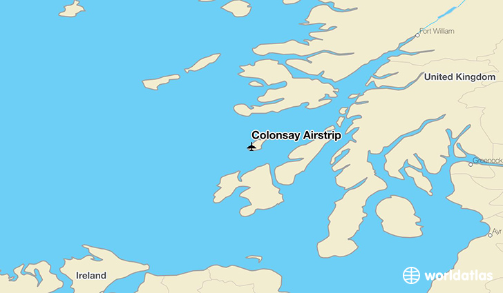 Colonsay Airstrip location on a map