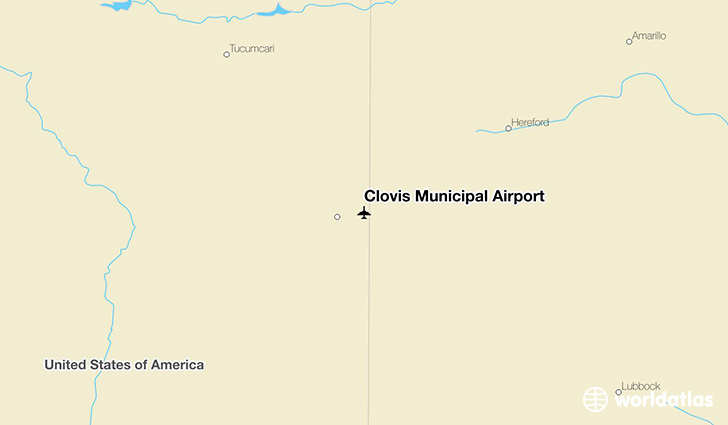 Clovis Municipal Airport location on a map