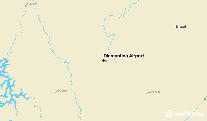 Diamantina Airport location on a map