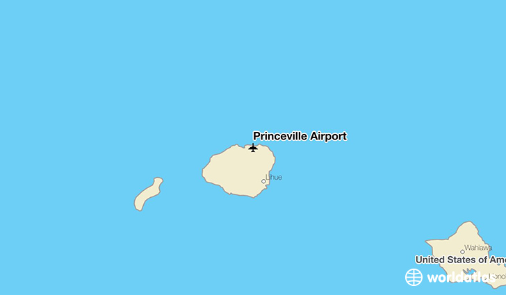 Princeville Airport location on a map