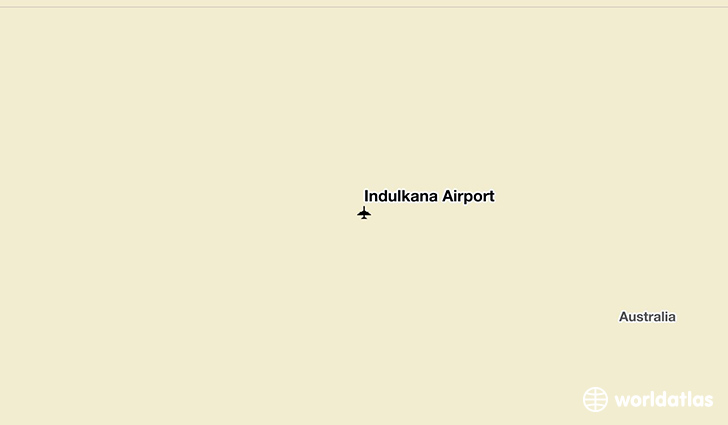 Indulkana Airport location on a map