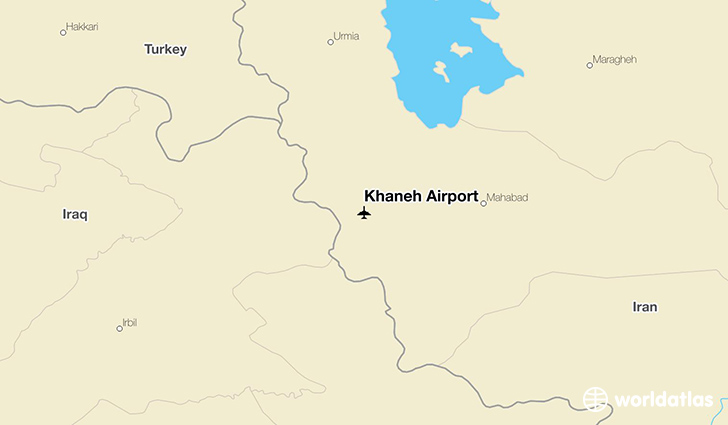 Khaneh Airport location on a map
