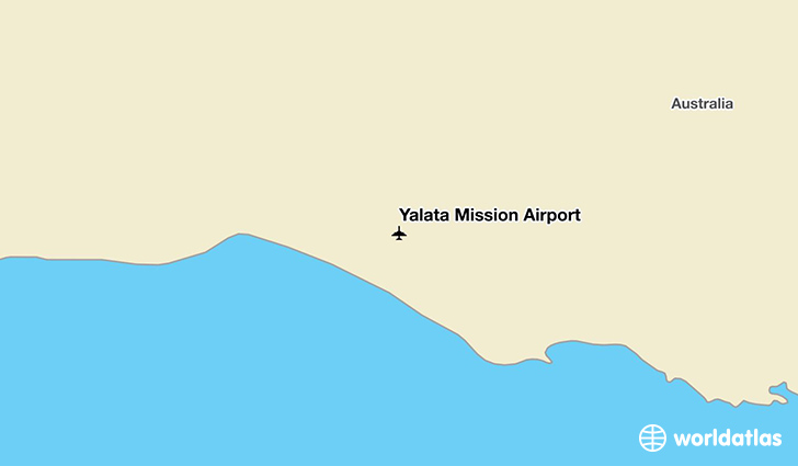 Yalata Mission Airport location on a map