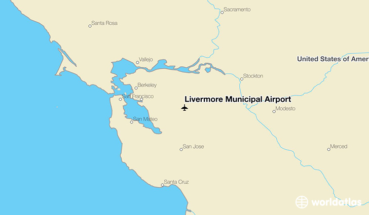 Livermore Municipal Airport location on a map