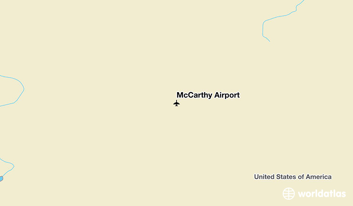 McCarthy Airport location on a map