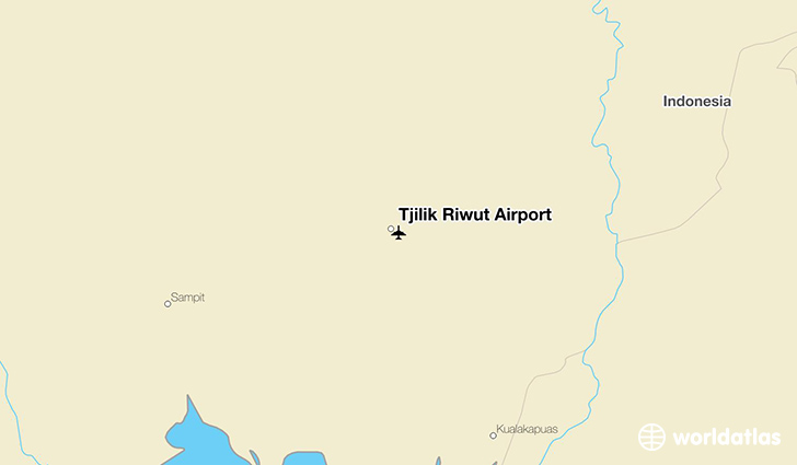 Tjilik Riwut Airport location on a map