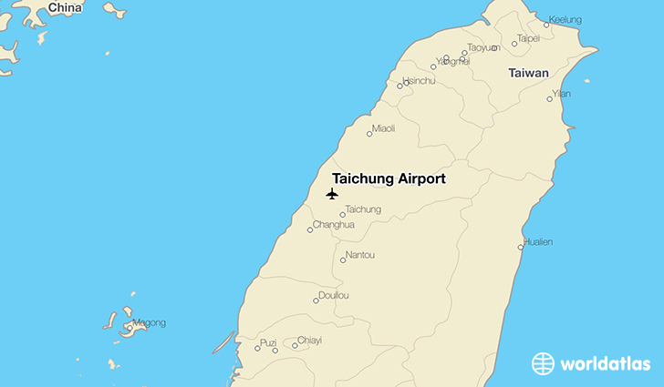 Taichung Airport location on a map