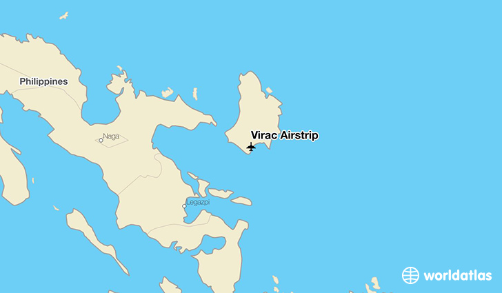 Virac Airstrip location on a map