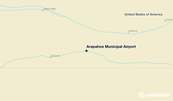 Arapahoe Municipal Airport location on a map