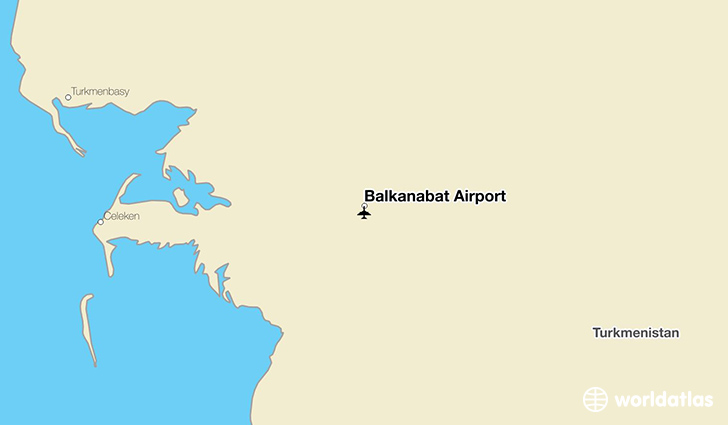 Balkanabat Airport location on a map