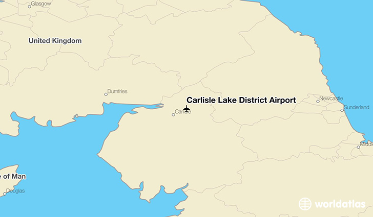 Carlisle Lake District Airport location on a map