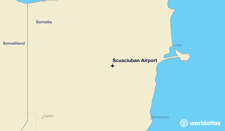 Scusciuban Airport location on a map